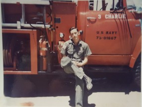 Seaman Jerry Ray Oliver served as a fireman for the Seabees in the Fire Protection Division in Da Nang.