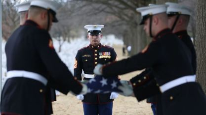 Marine salute for final resting place