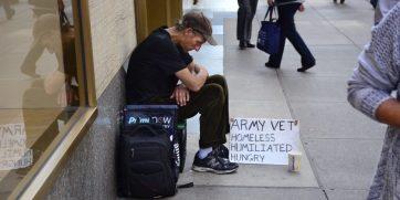 Homeless Vets work for a living