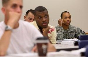 Veterans in class