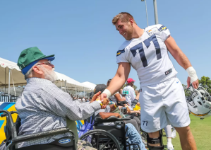Veteran at Chargers camp