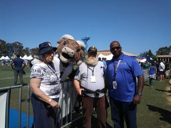 Veterans at Rams camp 2