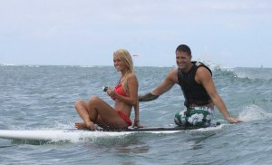Airman Brian and wife surfing