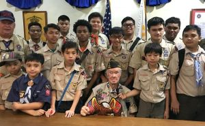 Korean War veteran - boy scouts