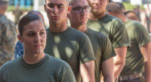 First female Marine students arrive at SOI-W