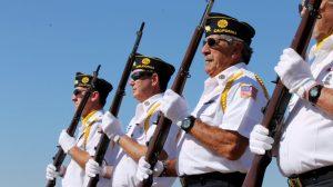 Veteran gun salute