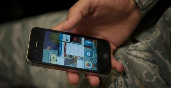 Veteran on a phone