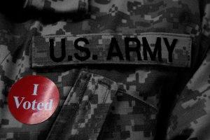 US Army voting sticker