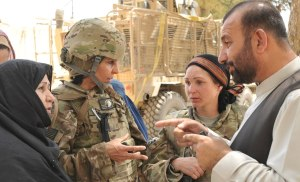 military women on the front lines