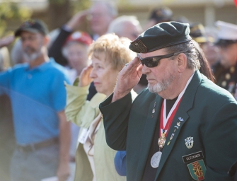 Cleckner at the dedication of the  Veterans Home of California-Redding.