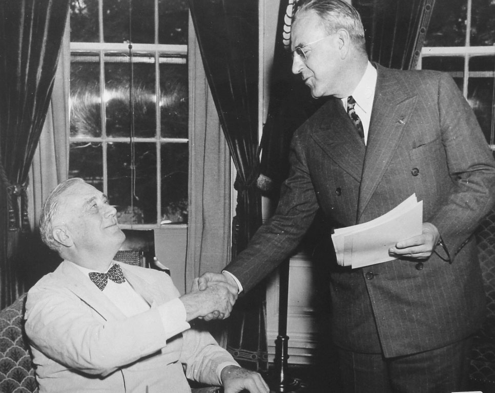 President Roosevelt with Warren Atherton.  Courtesy of the Bank of Stockton Historical Photograph Collection