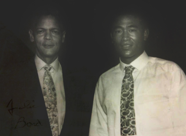 Civil rights leader Horace Julian Bond, left, with cousin Julian Bond, right.