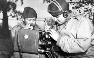 Navajo code talkers during World War II