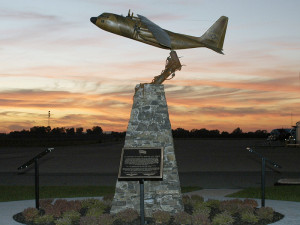 The memorial for the crew of CG 1705 at Air Station Sacramento.