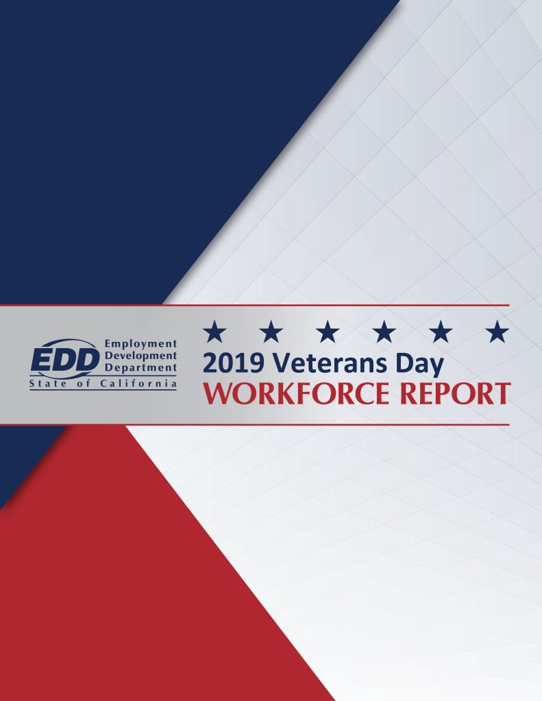 EDD 2019 Veterans Day Workforce Report cover