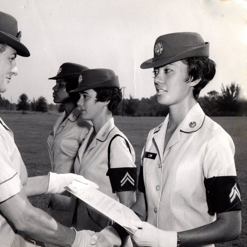 Yulana Low completes Women's Army Corps basic training in Georgia, 1968
