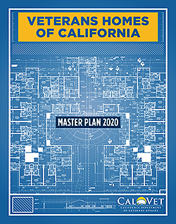 Cover of CalVet's Master Plan for its Veterans Homes of California.