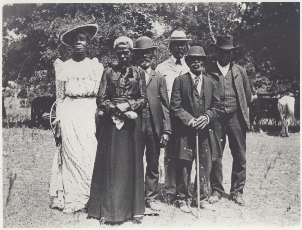 Participants in the 1900 Juneteenth celebration in Texas.