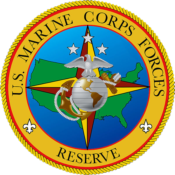 The logo of the Marine Corps Reserve.