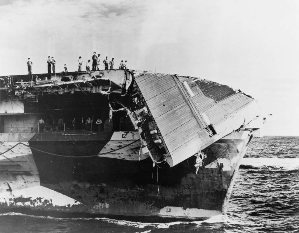 Damage from the 1945 Typhoon.