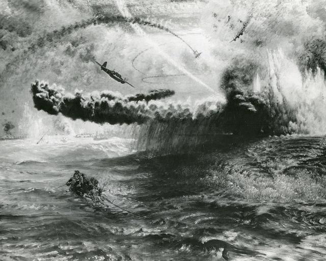 Painting of Kamakazi planes.