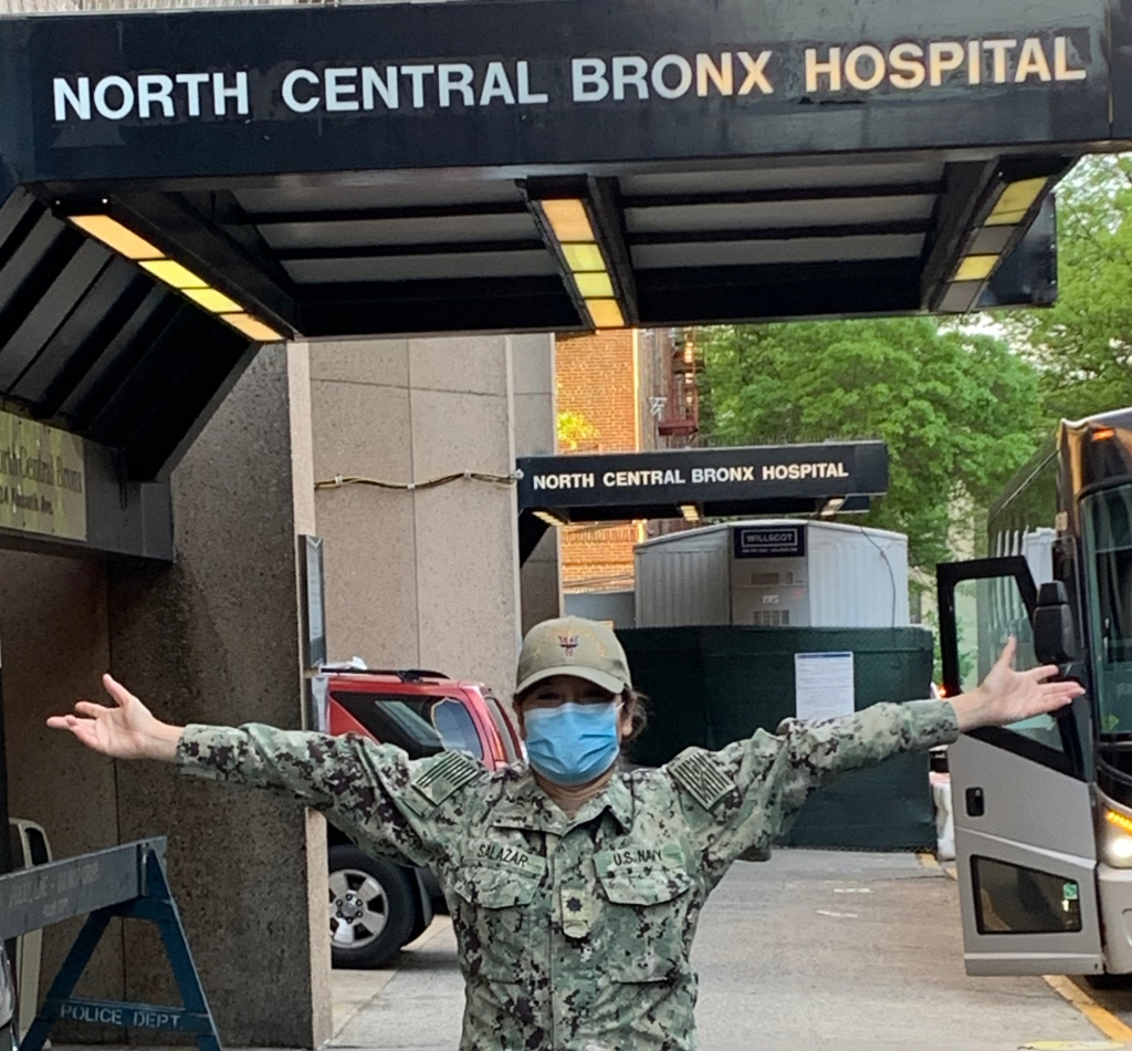 Photo of the back entrance to the Bronx Hospital, New York.