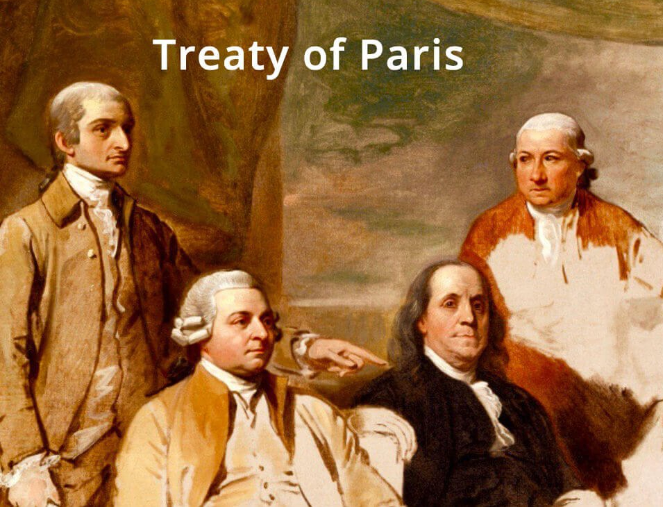 The American Revolution ended with the Treaty of Paris of 1783.
