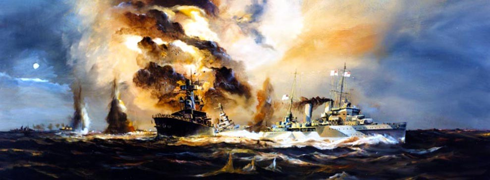 Losses at the Battle of Java Sea, USS Houston, USS Langley, over 79 years ago.