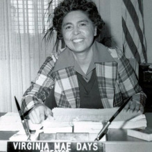 Virginia Mae Days, the only female to head the California Department of Veterans Affairs.
