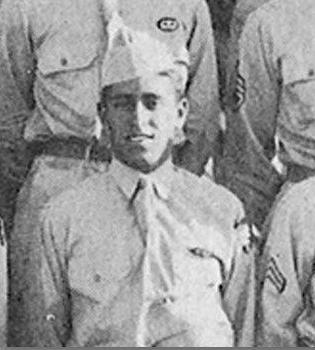 Photo of Private Joe Gandara in uniform.