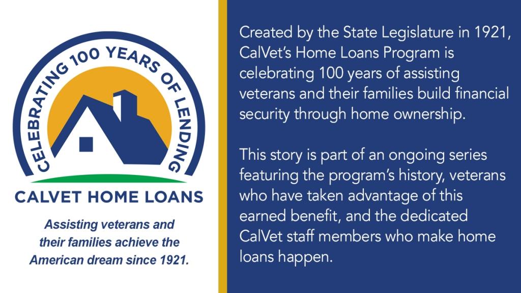 CalVet home loan logo.