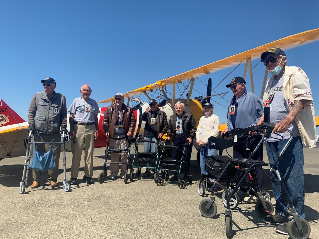 Our group of eight veterans from the Veterans Home of California-Yountville.