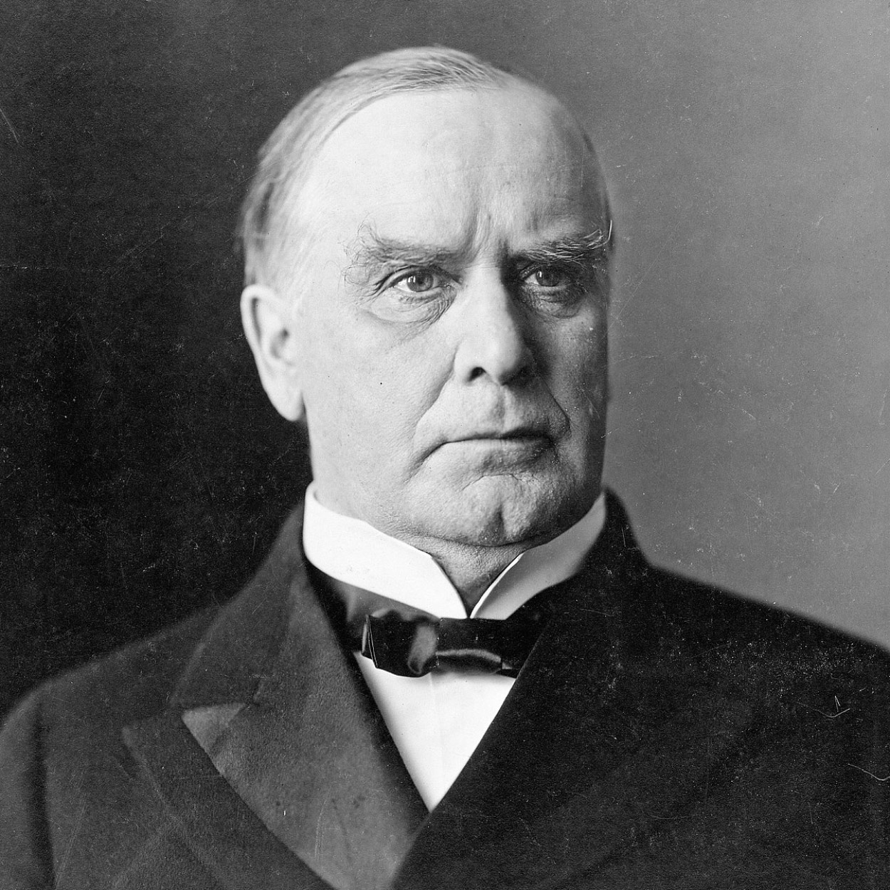 McKinley as 58-year-old president.