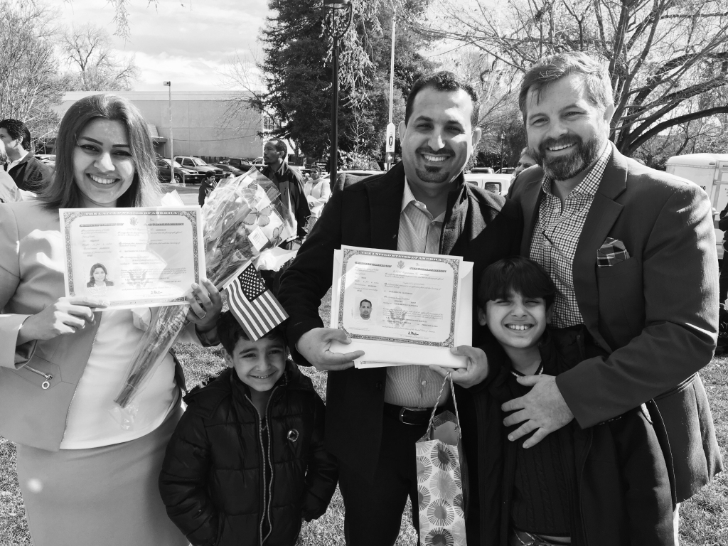 A Yasir family portrait taken the day they received their U.S. citizenship.