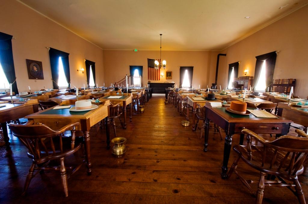 Photo of the interior of Benicia Capitol Historic State Park